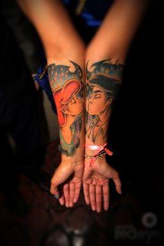 little mermaid love tattoos