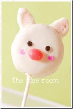 white-chocolate-dipped Oreo bunny pop