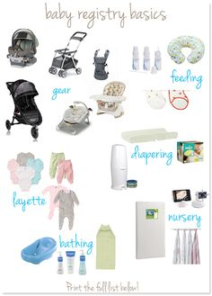 Our list of Baby Registry basics!