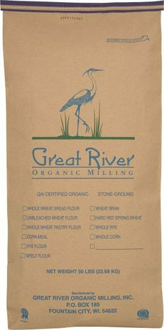 Great River Organic Milling Organic Whole Grains Soft White Winter Wheat, 50-Pounds:Amazon:Grocery & Gourmet Food