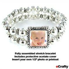 #ecrafty #diycrafts #diyjewelry #Mother's Day #DIY Bracelet #photo bracelet