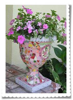 Mosaic planter.