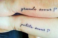 Big sister little sister tattoos pinterest for Big sister and little sister tattoos