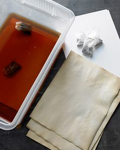DIY Primitive Decor – Tea and Coffee Dye Paper, Tags and Muslin Dolls!
