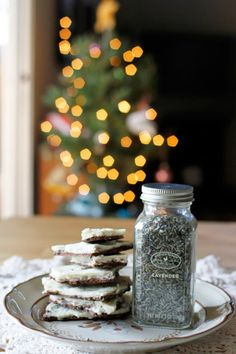 DIY Lavender Bark Recipe - Homemade Christmas Gift Idea for Foodies