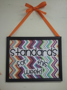 A cute board that you can use to place standards underneath.