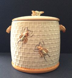 1940s Beehive Cookie Jar - Made in Japan
