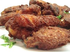 Deep fried red fermented bean curd chicken wings