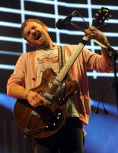 Kings Of Leon's Caleb Followill digs deep for a performance at the 24th Annual KROQ Almost Acoustic Christmas concert on Dec. 7 in Los Angeles