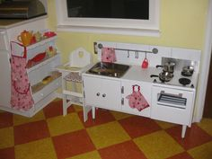Cabinet Turned Play Kitchen