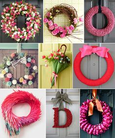 grapevine wreaths and silk flowers
