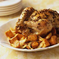 Garlic Chicken with Sweet Potatoes