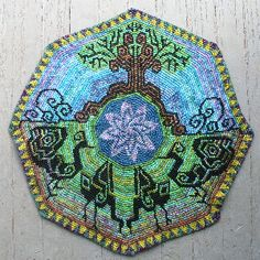 Tapestry crochet by Eshter Holsen - piece in the picture is just absolutely stunning