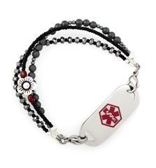 Black Velvet Medical ID Bracelet