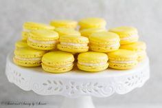 Lemon French Macarons ~Sweet and Savory by Shinee