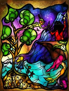 Neverland Stained Glass, by Mandie Michel