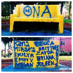 Recent Greek control of the spirit bench continues, this time with decoration by the ladies of Theta Nu Alpha!