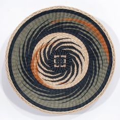 """Sage and Adobe Pinwheel, 17.75"""" x 2.5"""" by Kari Lønning www.facebook.com/karibaskets"""
