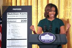Sandwiched in-between two poster-sized nutrition labels in late February, FLOTUS stunned a roomful of worshipers--er-- reporters when she said that most American moms simply didn't have her degree of Target savvy.  She is a disgrace to the White House!