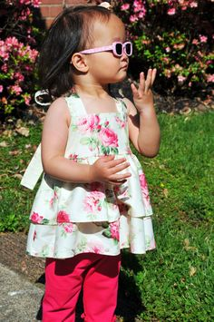 Double Ruffle Knot Top  Baby or Toddler by KKchildrendesigns, $45.00