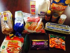 Gretchen's $57 Grocery Shopping Trip and Weekly Menu Plan