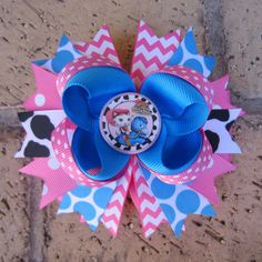 Disney Sheriff Callie's Wild West Inspired Custom Boutique Hair Bow Sheriff Callie Hair Bow for Birthday Party