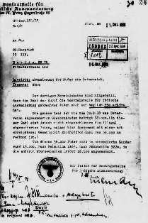 Letter from Adolf Eichmann outlining the deportation of Austrian Jews