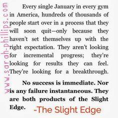 Love The Slight Edge
