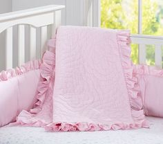 Bumper - Ruffle Collection Nursery Bedding #pbkids