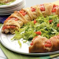 chicken club brunch ring - more crescent roll sandwiches