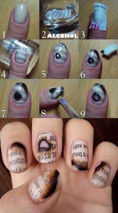nail art tutorials, nail polish, funny pictures, nail designs, book, nail arts, nail tutorials, papers, newspaper nails