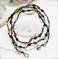 Boho agate double wrap anklet  men and women anklet by sophinegiam, $10.00