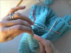 picking up the sleeves on a raglan sweater - YouTube