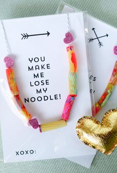 DIY noodle necklace