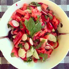"Watermelon and Radish ""Ceviche"" #vegan #saladideas"