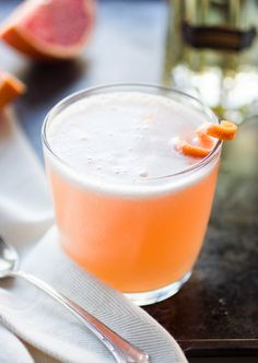 Pink Grapefruit Vieux Mot: gin, St. Germain, pink grapefruit juice, meyer lemon juice, simple syrup, grapefruit twist | The Bojon Gourmet