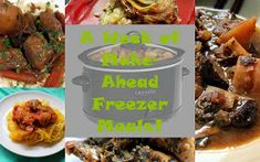 5 dinners - Dump everything into freezer bags (raw!) and then dump it all into your crockpot the day of! GF, Paleo, and only takes a few hours to do!