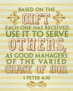 HomeLife Magazine — Printable Scripture Word Art: 1 Peter 4:10