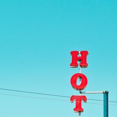 graphic, the color red, summer photos, neon signs, blue skies, design blogs, minimalist photography, vittorio ciccarelli, photographi