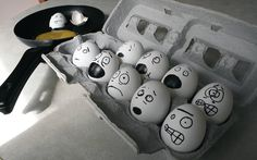 haahah....might have to do this to the eggs in the fridge hahaha
