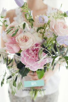 #DIY spring bouquet Photography: Sonya Khegay - sonyakhegay.com/  Read More: http://www.stylemepretty.com/living/2014/06/05/diy-spring-bouquet/