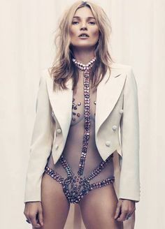 Sheer bodysuit.