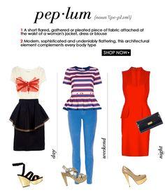 Peplum: bold, modern and undeniably flattering.