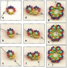 Floral Motive component - no click thru on this; source unknown. Diagram is enough. #seed #bead #tutorial