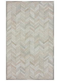 Chevron Leather Rug by nuLOOM at Gilt
