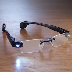 The Coolest Way To Read In The Dark: LED Reading Glasses