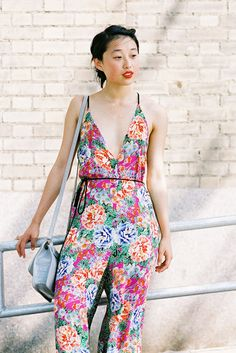 boho style. summer outfit. flowers
