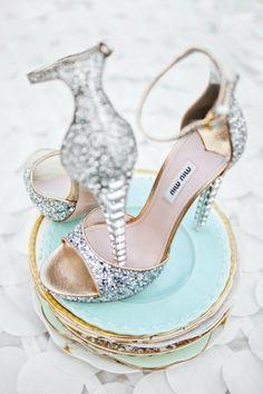 Miu Miu glitter heels by malinda