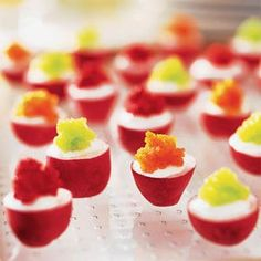 Radishes with Lemon Crème Fraîche and Tobiko | MyRecipes.com
