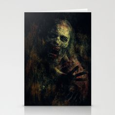 Zombie Stationery Cards by Sirenphotos - $12.00